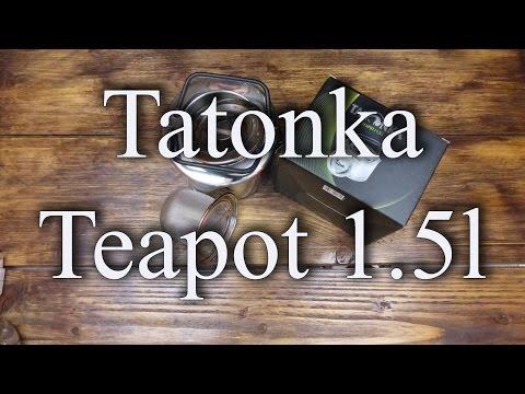 Tatonka Edelstahl Teapot  (1,5l Teekessel mit Sieb)