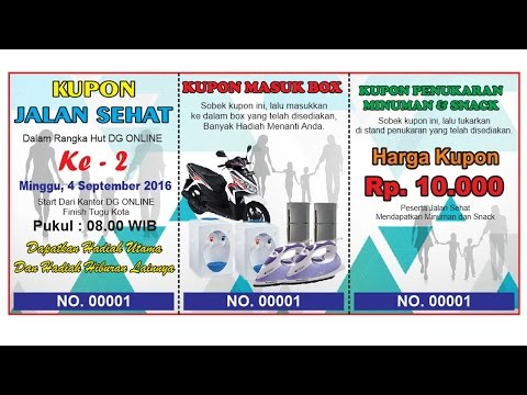 Video How To Make Coupon Design CorelDraw - Kupon Jalan Sehat