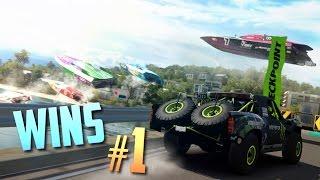 Racing Games WINS Compilation #1 (Epic Moments, Stunts & Close Calls) [+GTA]