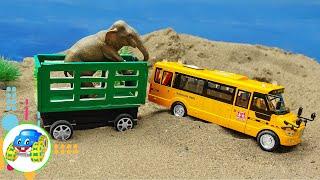 Bài hát Vegetable For Meals - Xe ô tô cứu trợ các bạn động vật - Đồ chơi trẻ em | Kid Studio