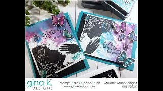 Create an Ethereal Background with Women of Faith and Distress Oxide inks
