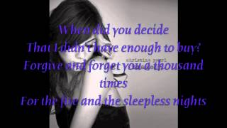 Tragedy - Christina Perri LYRICS