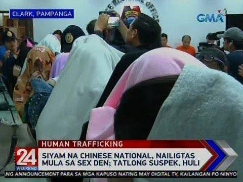 [GMA]  24 Oras: Siyam na chinese national, nailigtas mula sa sex den; Tatlong suspek, huli