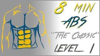 Abdominales en 8 minutos - Nivel 1