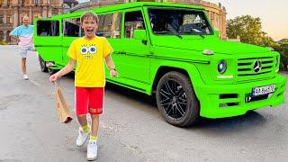 Макс на лимузине - Катя на трамвае челлендж