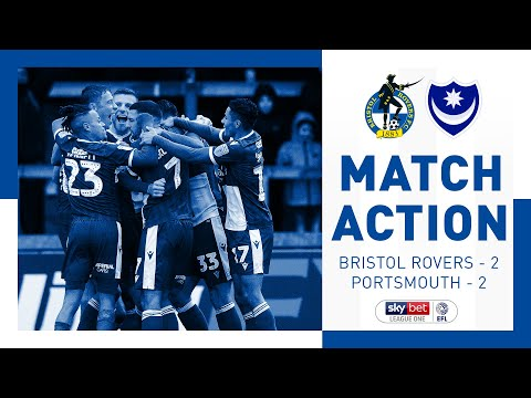 Match Action: Bristol Rovers 2-2 Portsmouth