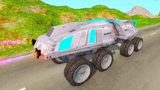 Летающие большие машины БТР и Марсоход - Мультики про машинки 2019 года