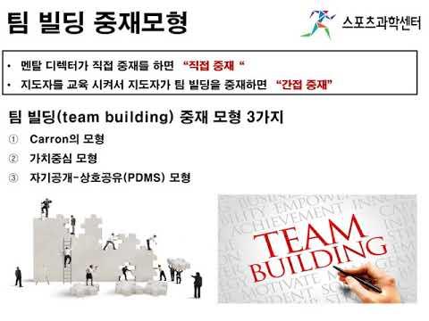 [스포츠심리] 팀 빌딩과 팀 응집력
