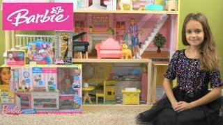 Barbie and Ken Thanksgiving Dinner Story: Barbie NEW Ultimate Kitchen and Chelsea Dress Up Toys