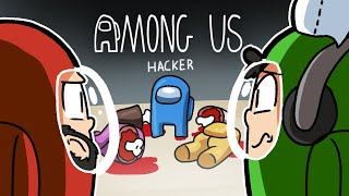 Among Us but there's a hacker in the game???