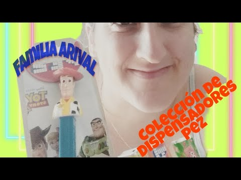 Dispensadores caramelos PEZ🐟 colection JUGUETIPLAY videos for KIDS. Pez dispenser ❤
