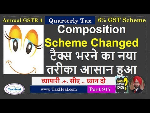 GST Composition & 6% GST Scheme Changed : GSTR 4 to be filed