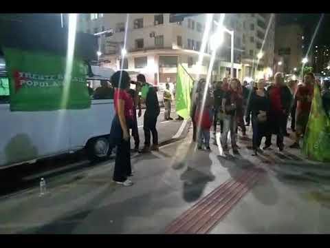 Ato em defesa da Petrobras Estatal e das greves dos petroleiros e dos caminhoneiros