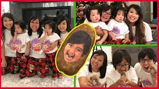 Family Christmas Fun! Ryan's Family got a potato for Christmas Surprise!