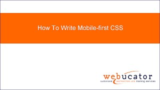 How To Write Mobile-first CSS