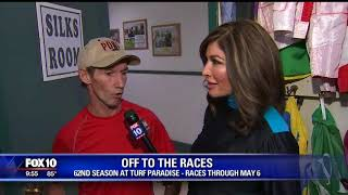 Jockeys train horses at Turf Paradise