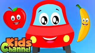 Apple And Banana | Little Red Car Cartoon Videos from Kids Channel