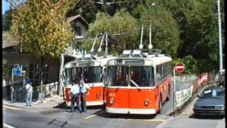 preview picture of video 'Lausanne Trolleybus 1989'