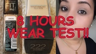 Image for video on Maybelline Matte and Poreless Foundation | Review/Demo/8 Hour Wear Test by beauty In budget