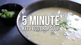 5 Minute Keto Egg Drop Soup