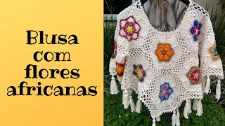 Blusa African Flowers