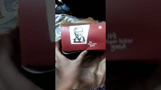 KFC 5 in 1 zinger unboxing