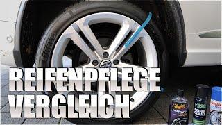 Reifenpflege Vergleich Test: P21s Reifen Glanz | Sonax Reifenglanzspray | Meguiars Tyre Gel