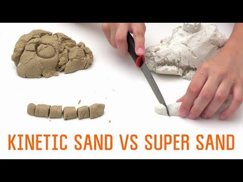 How to make Kinetic Sand | Super Sand vs Homemade Kinetic Sand DIY
