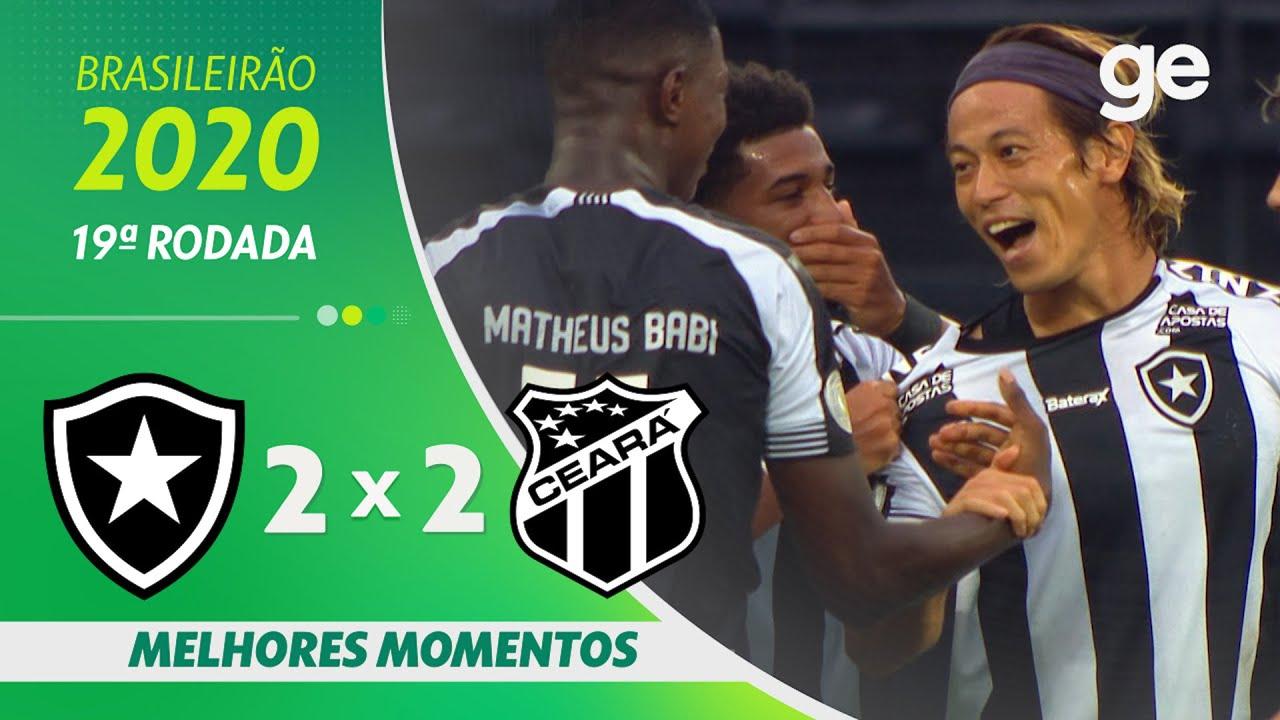 VÍDEO | Gols e melhores momentos do empate entre Botafogo e Ceará pelo Brasileiro