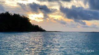 Drone Flying - Sunset - Blue Heaven Island - Motu Paahi - Bora Bora, French Polynesia 🇵🇫 - 4K Travel
