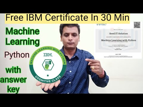 Machine Learning free certification | in free course python machine ...