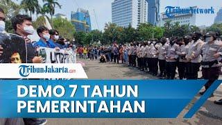 Aksi Demonstrasi 7 Tahun Pemerintahan Jokowi oleh BEM SI, Beri Rapor Merah hingga Beri 12 Tuntutan