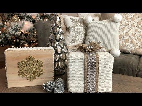 DIY CHRISTMAS DECORATIONS 2017 COZY RUSTIC GLAM