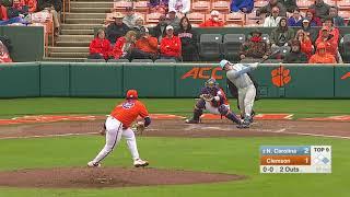 Clemson Baseball || North Carolina Game Highlights - 3/9/19 (Game 1 of DH)
