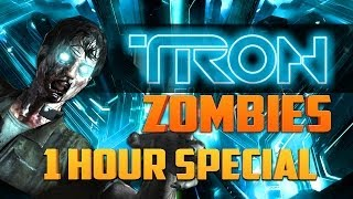 TRON ZOMBIES   1 HOUR SPECIAL ★ Call Of Duty Zombies (Zombie Games)