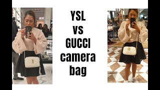 YSL Lou Camera Bag Unboxing And Try On / Gucci VS YSL #ysl #whitedesignerbag