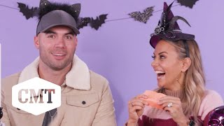 Jana Kramer & Michael Caussin Match Candy to Country Artist | CMT's Country Candy Connection