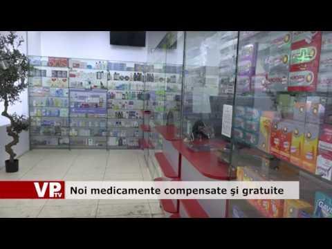 Noi medicamente compensate și gratuite