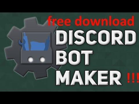 Discord Bot Maker FREE DOWNLOAD!!!