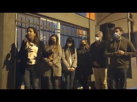 Sanchez Jauregui inauguró local del Partido Fe en Quequén junto a Cáceres y López
