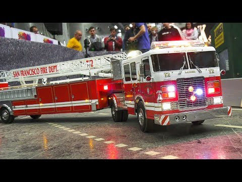 RC MODEL FIRE TRUCKS, RC HEAVY LOAD TRUCKS, RC DOZER, RC EXCAVATOR / Modellbau Messe Wien 2017