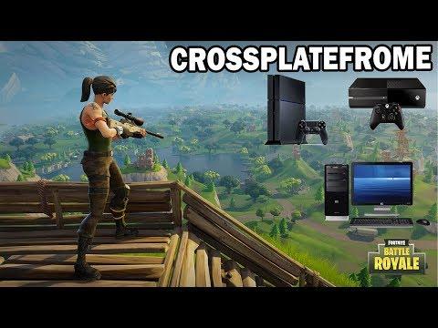 Jouer en cross plateforme sur Fortnite Battle Royale ! Pc à Ps4 & Xbox One