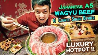 Japanese A5 WAGYU BEEF LUXURY HOTPOT! 6 Course Shabu Dinner