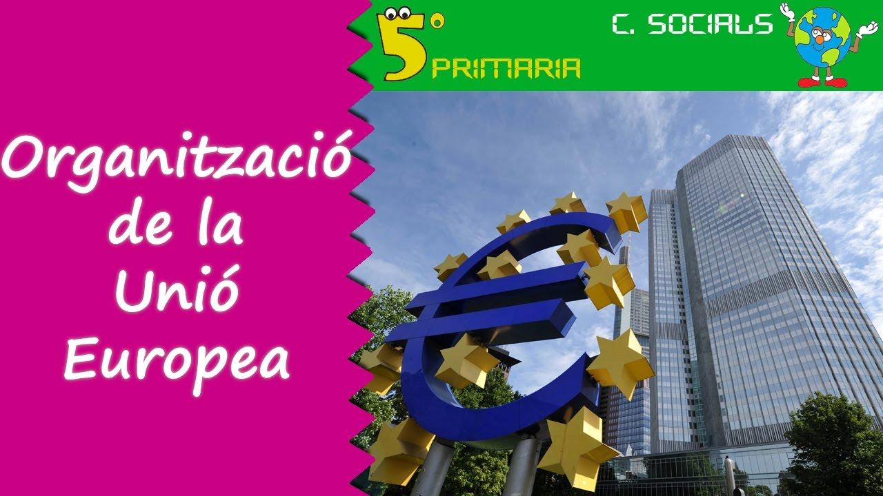 Organització de la Unió Europea. Socials, 5é Primària. Tema 5