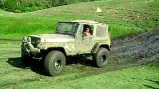 preview picture of video 'TEJEDA TEAM 4X4 RD (EXTREME OFF ROAD) @ LA CANA XIX - JEEP WRANGLER SAHARA ON MUD'