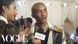 Jaden Smith on His Cozy Look for the Met Gala | Met Gala 2018 With Liza Koshy | Vogue - Video Youtube