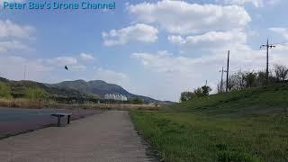 #15 Racing drone acro mode practice(Low altitude rotation)레이싱 드론 아크로 모드 비행연습(낮은 고도 회전)