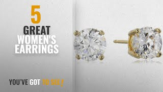 10 Best Cubic Zirconia Stud Earrings [2018]: 18K Yellow Gold Plated Sterling Silver Round Cut 5mm