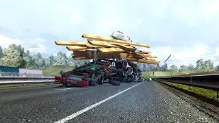 Euro Truck Simulator 2 Mercedes Steel Giant - Trains in ETS 2 Mod - Поезд в ЕТС 2