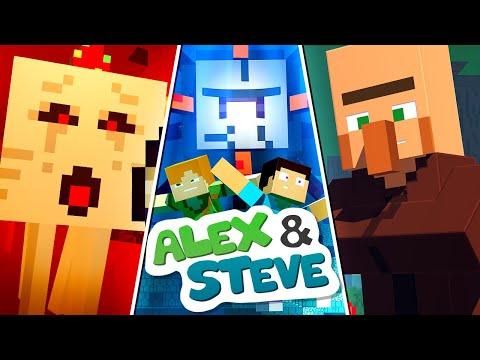 The Minecraft Life of Alex and Steve | MOVIE 1 | Minecraft Animation